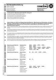 EG-Herstellererklärung - Rosenberg Ventilatoren GmbH