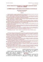 Analiza reziduurilor de albendazol şi a metaboliţilor acestuia din ...
