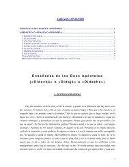 Enseñanza de los Doce Apóstoles («Didaché» o «Didajé» o ...