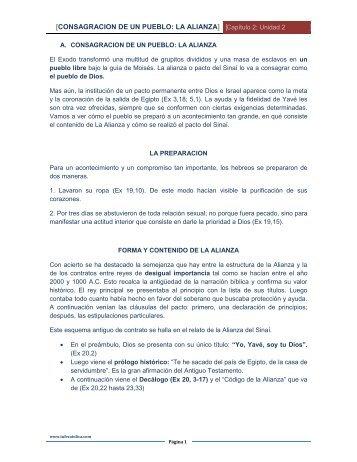 CONSAGRACION DE UN PUEBLO: LA ALIANZA - Tu Fe Católica
