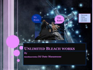 Unlimited Bleach works - Get a Free Blog