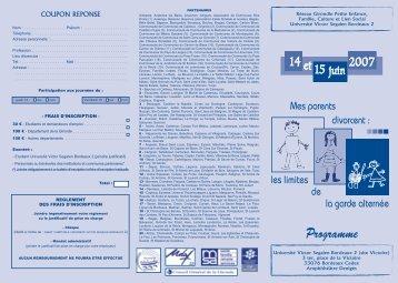 Programme - Réseau Girondin Petite Enfance