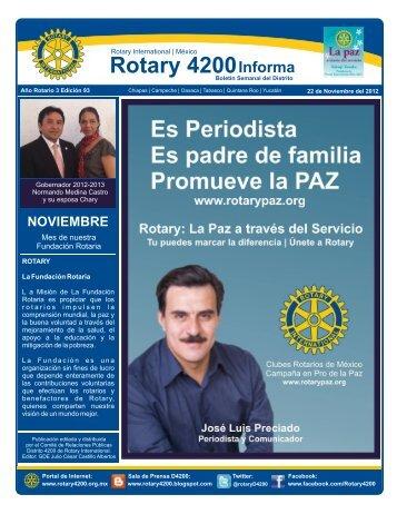 22 de Noviembre del 2012 - Distrito 4200