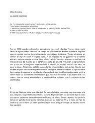 Milan Kundera LA GRAN MARCHA 1 Fue en 1980 cuando pudimos ...