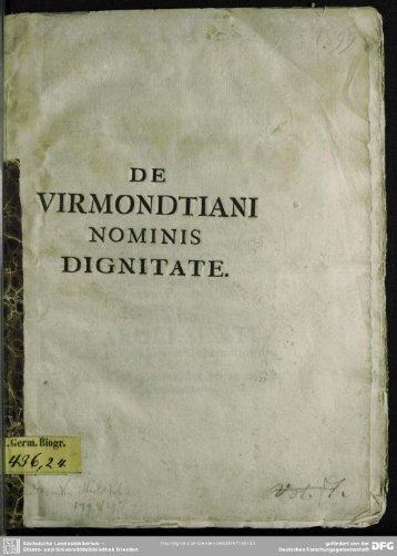 D E VIRMONDTIANI - SLUB Dresden