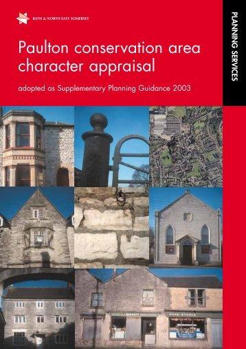 Paulton Conservation Area Appraisal (PDF) - Bath & North East ...