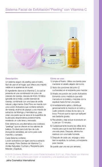 """Sistema Facial de Exfoliación/""""Peeling"""" con Vitamina C - Jafra USA"""