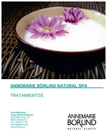 annemarie börlind natural spa - Borlind