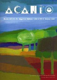 Revista del I .E .S . Miguel de Molinos. Año 6 Nº 19 Invierno 2008 La ...