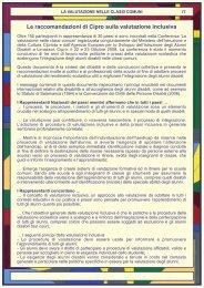 Le raccomandazioni di Cipro sulla valutazione inclusiva