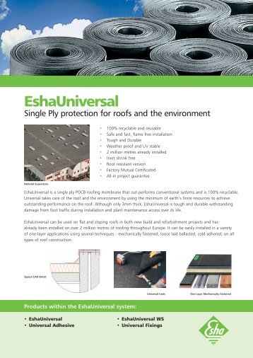 Perfect EshaUniversal Single Ply Protection   Lane Roofing Sc 1 St Yumpu