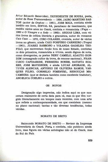 Os Novos - Portal da História do Ceará