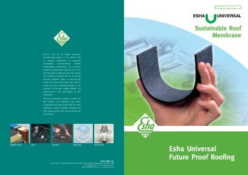 Esha Universal Future Proof Roofing   RIBA Product Selector
