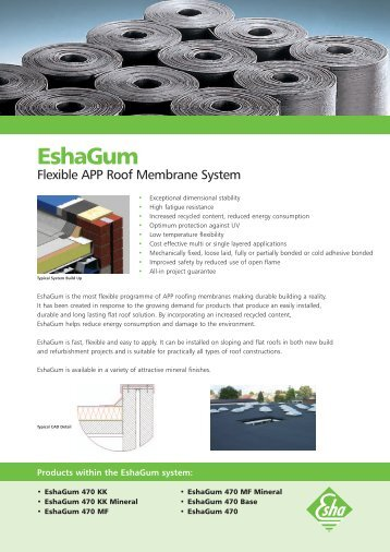 EshaGum Flexible APP Roof Membrane   Lane Roofing