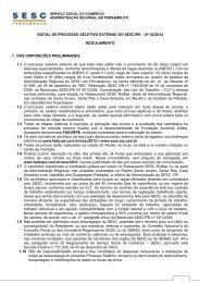 EDITAL DE PROCESSO SELETIVO EXTERNO DO SESC/PE – Nº ...