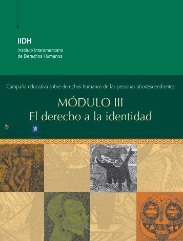 MÓDULO III El derecho a la identidad - IIDH