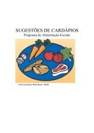 Sugestões de Cardápios - Portal Conselhos MG - Governo do ...