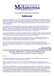 Edição 13 - Abril, Maio, Junho - Grupo Brasileiro de Melanoma