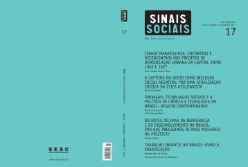 Revista Sinais Sociais N17 pdf - Sesc
