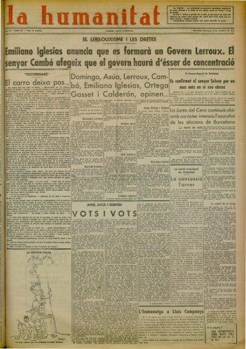 Emiliano glesias anuncia que es formarà un Govern Lerroux. El ...