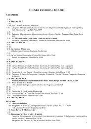 AGENDA PASTORAL 2012-2013 - Bisbat de Mallorca