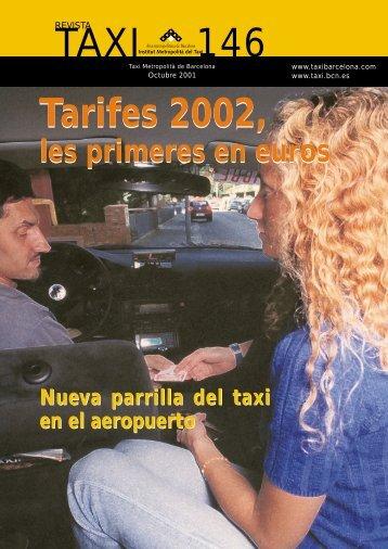 Tarifes 2002, TAXI 146 Tarifes 2002, - Institut Metropolità del Taxi