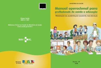 Manual operacional para profissionais de saúde e educação