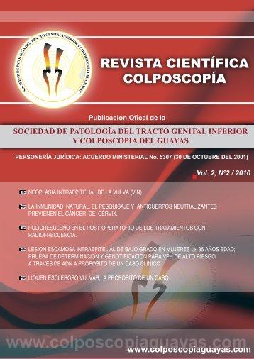 Revista de Colposcopia II 2010 (pdf) - Sociedad de Patología del ...