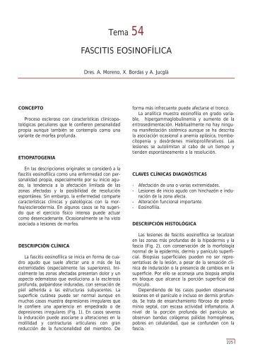 Tema 54 FASCITIS EOSINOFÍLICA - e-dermatosis.com