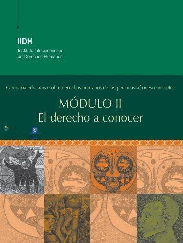MÓDULO II El derecho a conocer - IIDH