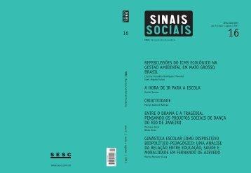 Revista Sinais Sociais N16 pdf - Sesc