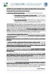 Escola SANTA CLARA · Club Natació Sabadell