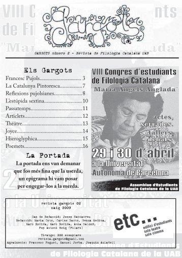 Els Gargots La Portada - Departament de Filologia Catalana