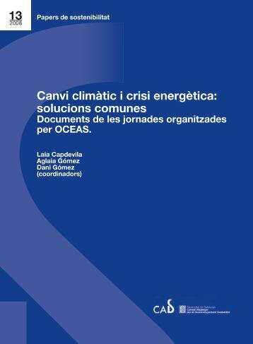 Canvi climàtic i crisi energètica - Generalitat de Catalunya