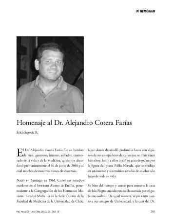 Homenaje al Dr. Alejandro Cotera Farías - Hospital Clínico ...