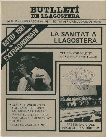 Juliol 1981 - Arxiu - LLAGOSTERA