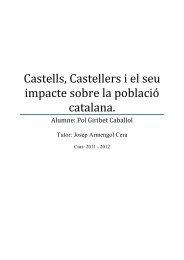 Castells, Castellers i el seu impacte sobre la població catalana.