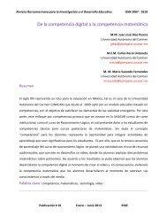 De la competencia digital a la competencia matemática - RIDE