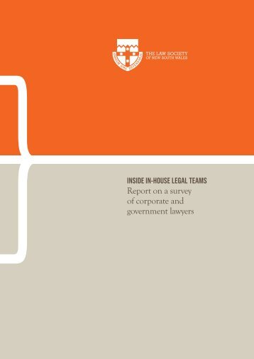 Report on a survey of corporate and government lawyers