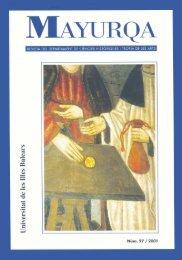 Mayurqa - Volum 27 - Biblioteca Digital de les Illes Balears ...