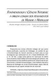 fenomenologiA e ciênciAS nAturAiS: A origem comum DoS ... - IFCS