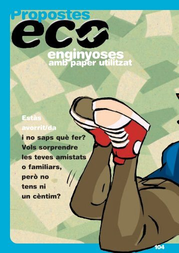 Propostes eco-enginyoses amb paper utilitzat - Agenda escolar