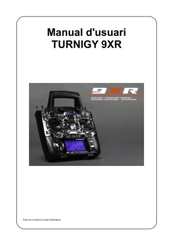 Manual d'usuari TURNIGY 9XR - Hobby King