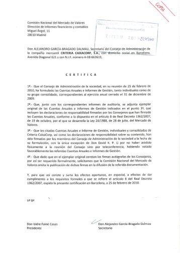 Criteria CaixaCorp, SA - CaixaBank