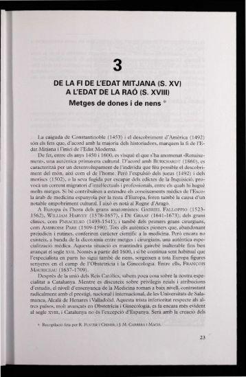 DE LA FI DE L'EDAT MITJANA - Acadèmia