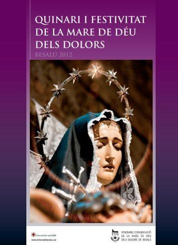 quinari i festivitat de la mare de déu dels dolors - Josep Lagares