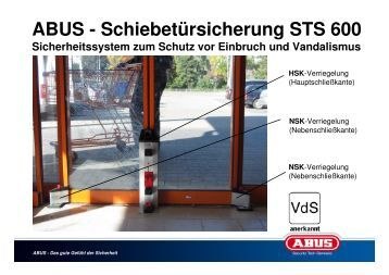 montageanleitung sts600 deutsch pdf abus sts 600. Black Bedroom Furniture Sets. Home Design Ideas