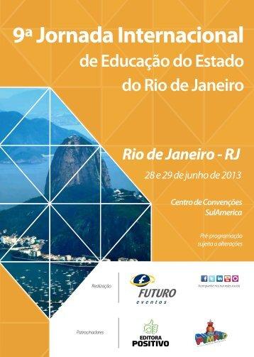9ª Jornada Internacional de Educação do Estado ... - Futuro Eventos