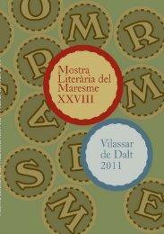 Mostra Literària del Maresme XXVIII - Vilassar de Dalt 2011