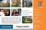 Pedagogía en Castellano - Admisión
